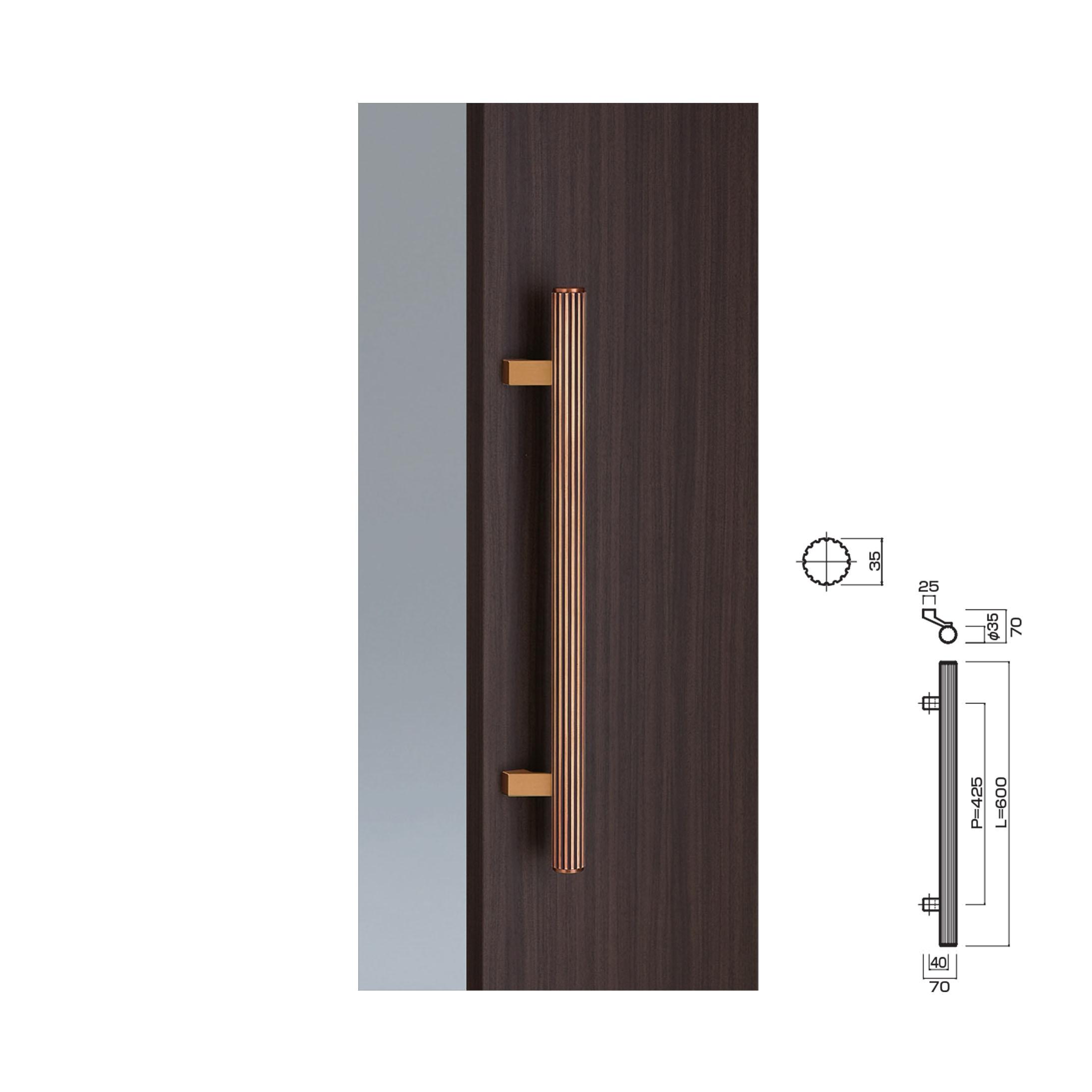 600mm Door Pull Handle Products Kawajun Japanese