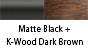 Matte Black & K-Wood Dark Brown
